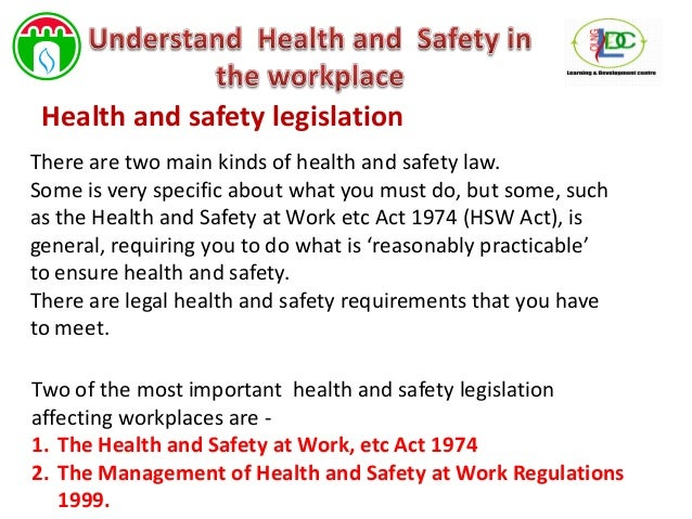 What are the main health and safety regulations?