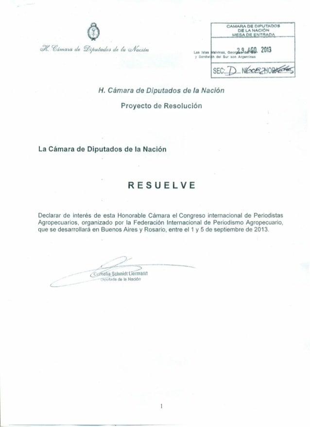 P. congreso internac de periodistas agropecuarios
