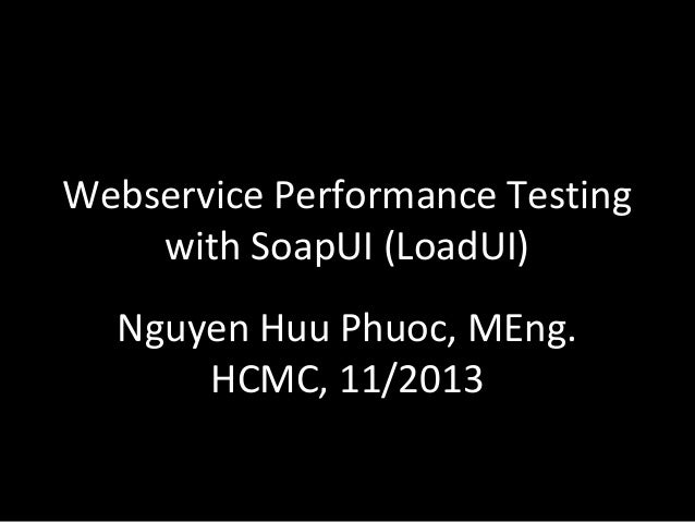Webservice performance testing with SoapUI