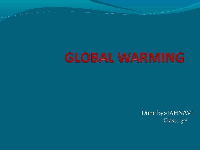 P.jahnavi, 3 class , global warming