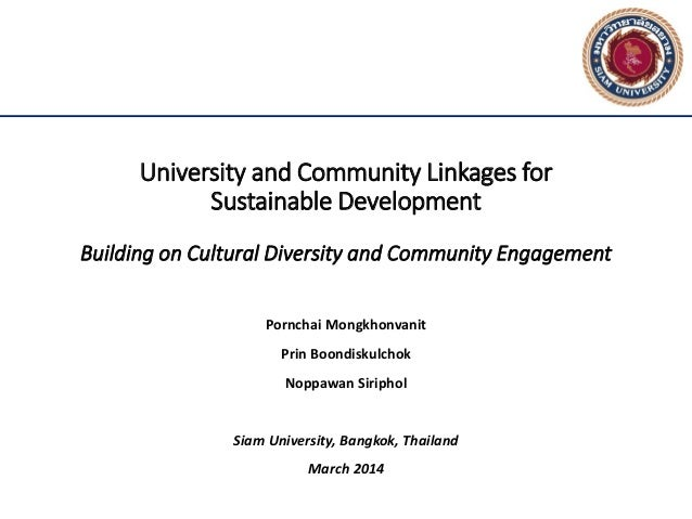University and Community Linkages for Sustainable Development Building on Cultural Diversity and Community Engagement Porn...