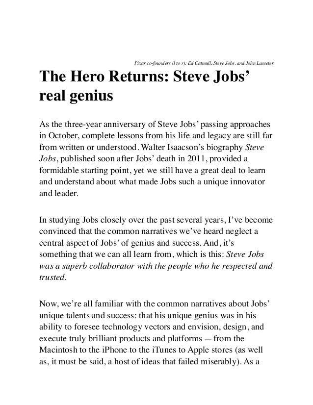 The Hero Returns: Steve Jobs' real genius
