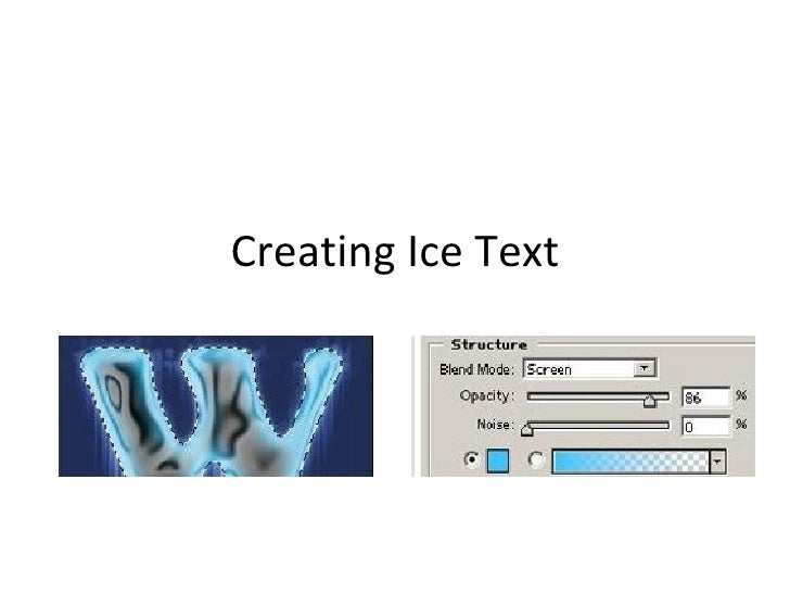 Creating Ice Text
