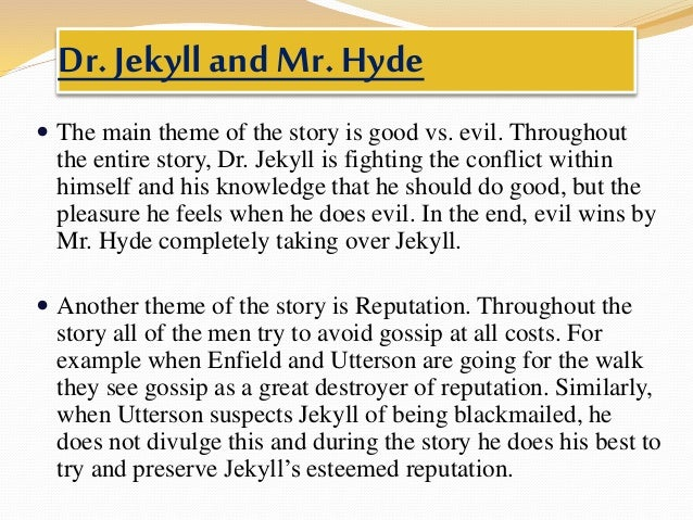 good vs evil in dr jekyll and mr hyde essay