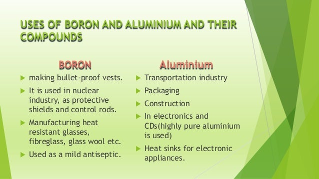 Physical Properties For Boron