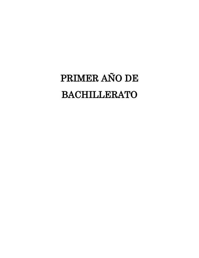 P.C.A Primer año de Bachillerato