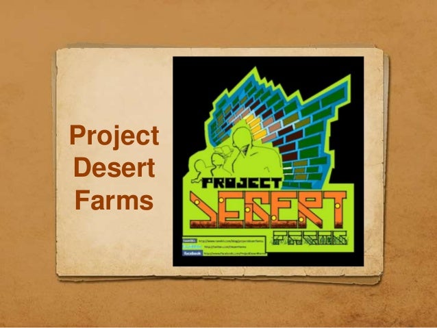 Project Desert Farms- Information Booklet