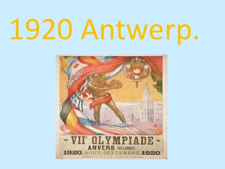 1920 Antwerp.