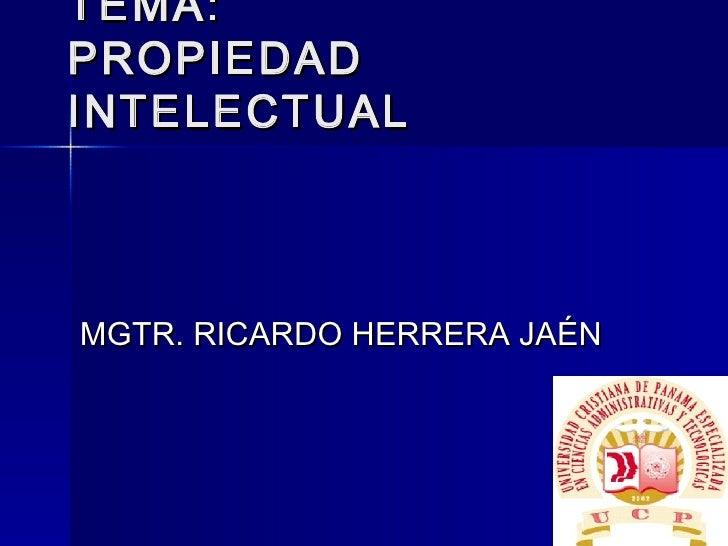Propiedad  Industrial - Ley 35 Marcas y patentes inv.