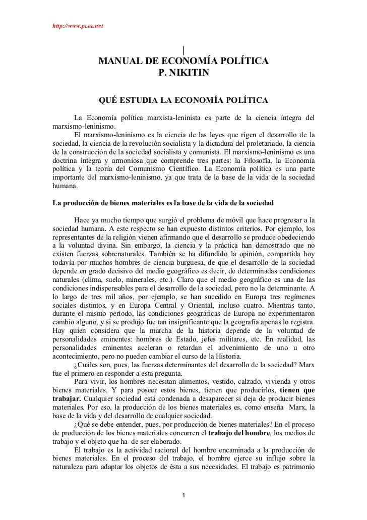 manual economia politica P. nikitin