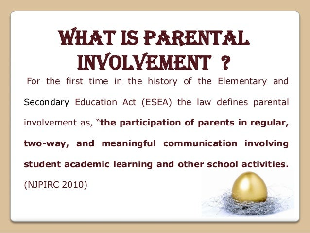 """parental involvement and student achievement thesis Education research international is a peer-reviewed l desimone, """"linking parent involvement with student achievement: do race and income matter."""