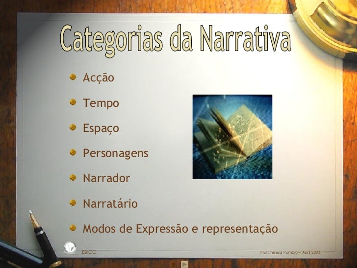 ppt categorias Narrativa
