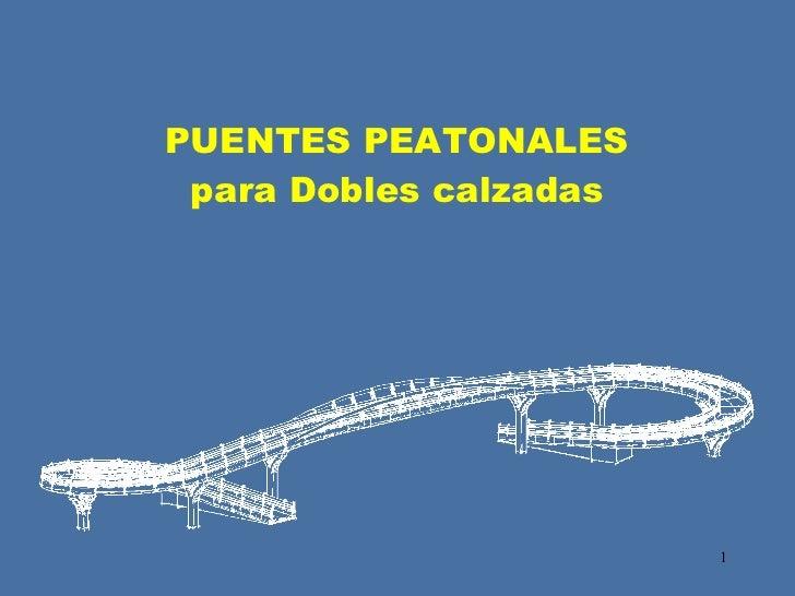 Puentes Peatonales Dobles Calzadas