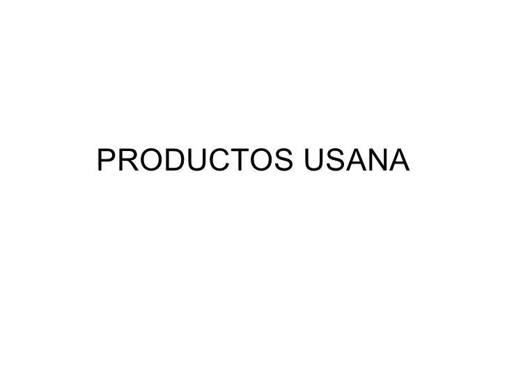 PRODUCTOS USANA