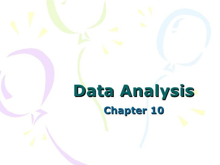 Data Analysis Chapter 10