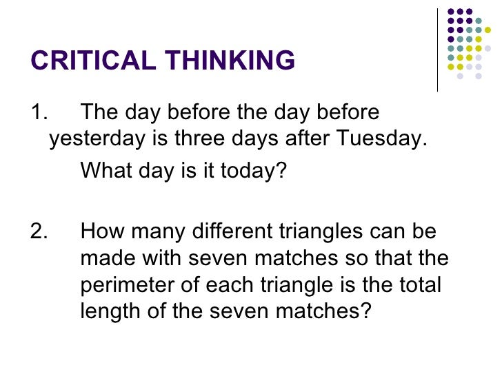Critical Thinking Exam With Answers - image 5