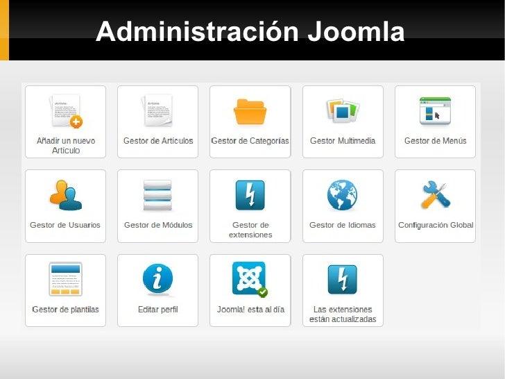 Administración Joomla