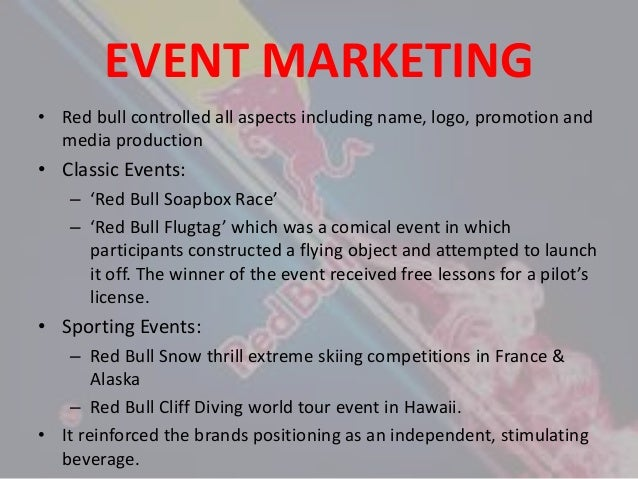 marketing activities by redbull Australian assignment help provides analysis on red bull which has greater degree of emphasis on improving its marketing efforts.