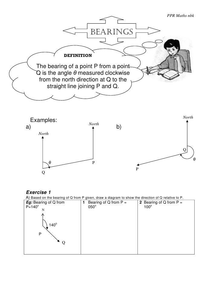 PPR Maths nbk                                            BEARINGS                         DEFINITION        The bearing of...