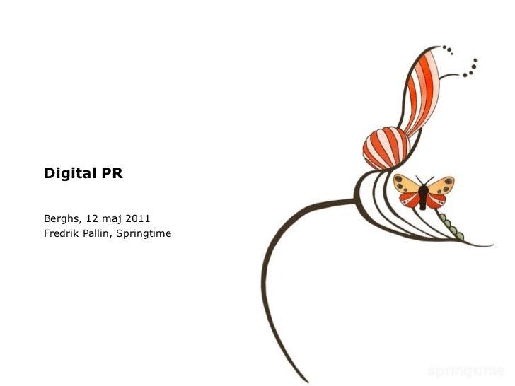 Digital PR - föreläsning på Berghs