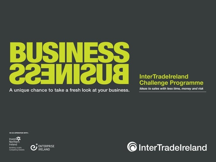 InterTrade Ireland Challenge Programme Workshop 1