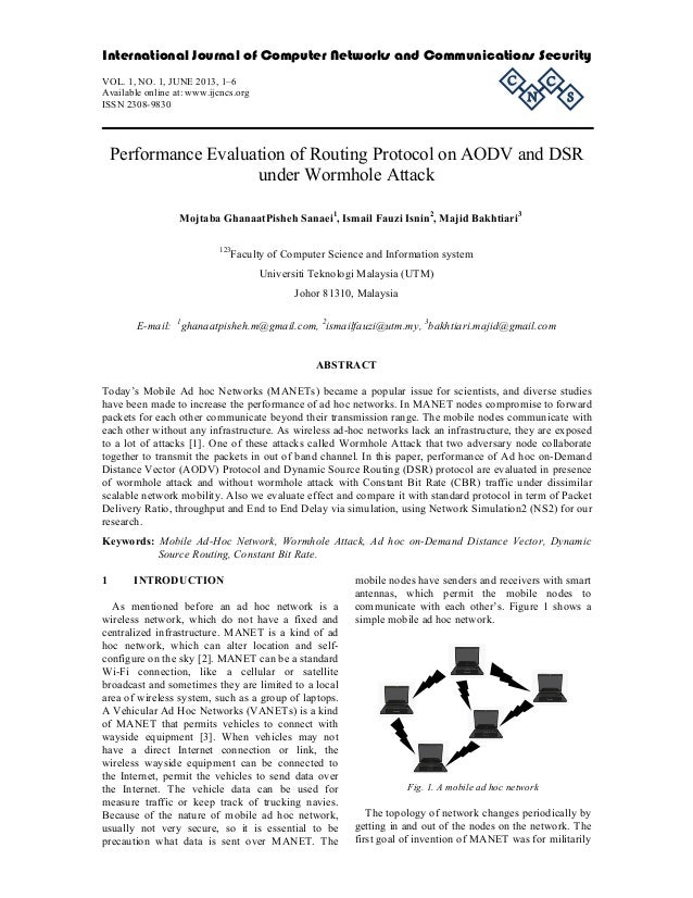 International Journal of Computer Networks and Communications Security  C  VOL. 1, NO. 1, JUNE 2013, 1–6 Available online ...