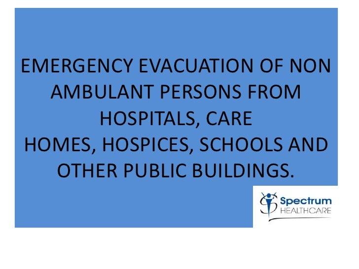 Personal emergency evacuation plan for care homes, emergency 72 hour ...