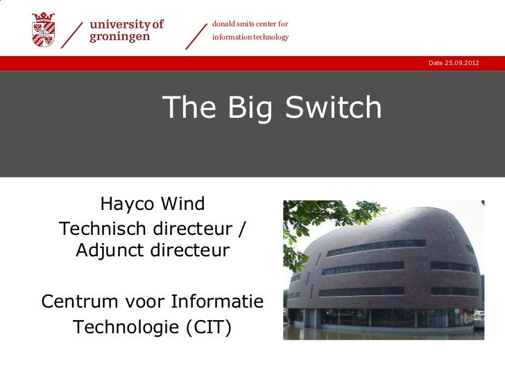 donald smits center for                  information technology                                            Date 25.09.2012...