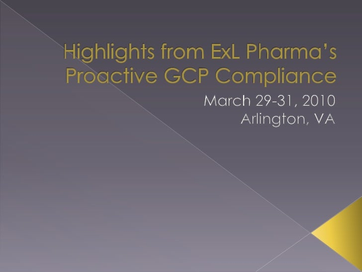 Highlights from ExL Pharma's Proactive GCP Compliance