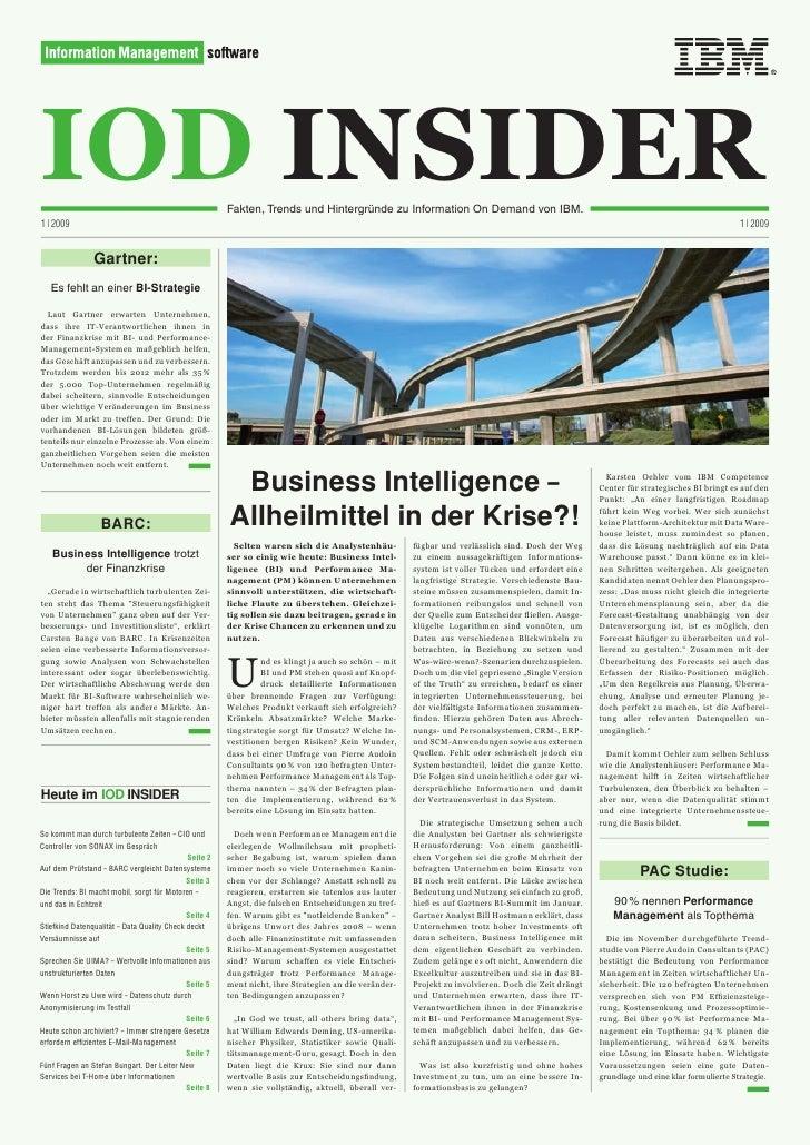 IOD INSIDER 1 | 2009                                                        Fakten,TrendsundHintergründezuInformation...