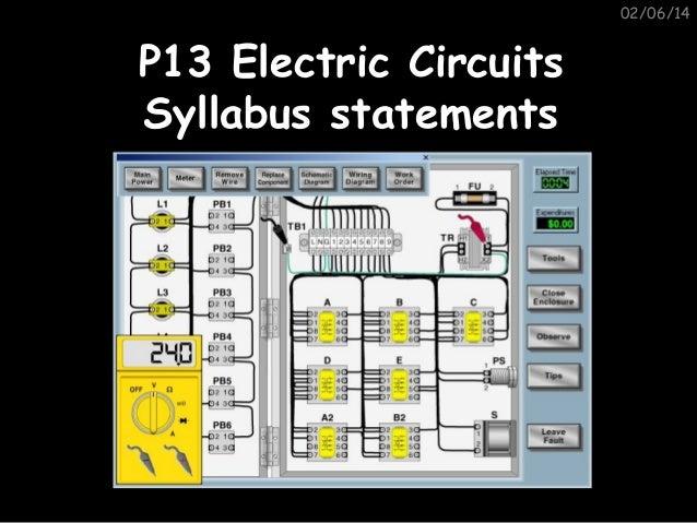 02/06/14  P13 Electric Circuits Syllabus statements