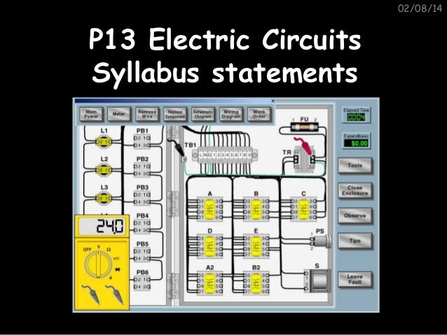 02/08/14  P13 Electric Circuits Syllabus statements