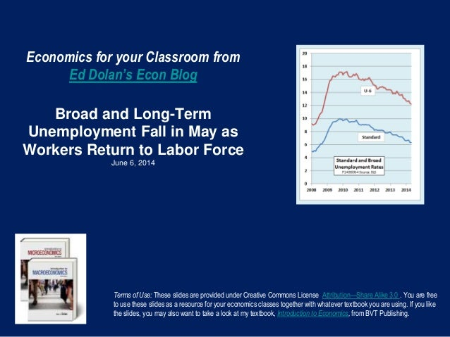 Economics for your Classroom from Ed Dolan's Econ Blog Broad and Long-Term Unemployment Fall in May as Workers Return to L...