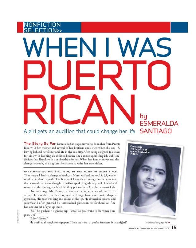 Who is author Esmerelda Santiago?