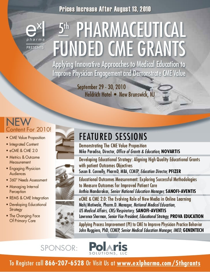 EXL Pharma 5th CME Grants Conference Brochure