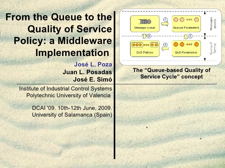 From the Queue to the Quality of Service Policy: a Middleware Implementation   Institute of Industrial Control Systems Pol...