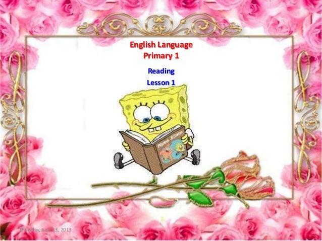 P1 e lesson 1   reading