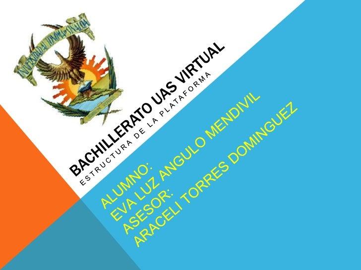 PLATAFORMA VIRTUALEl Bachillerato Virtual de la Universidad Autónoma de Sinaloa proporciona sus    servicios a través del ...
