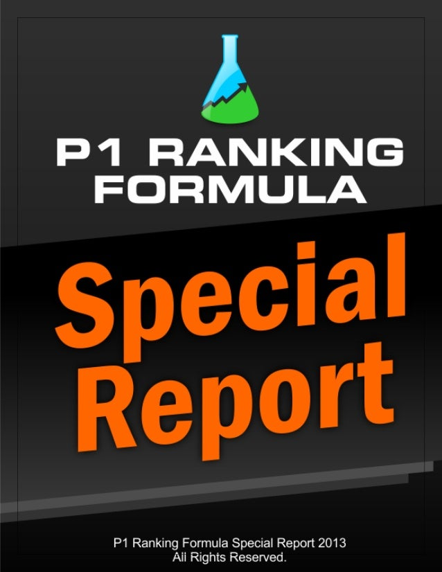P1 Ranking Formula Report