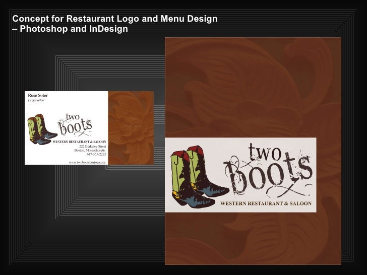 Concept for Restaurant Logo and Menu Design – Photoshop and InDesign