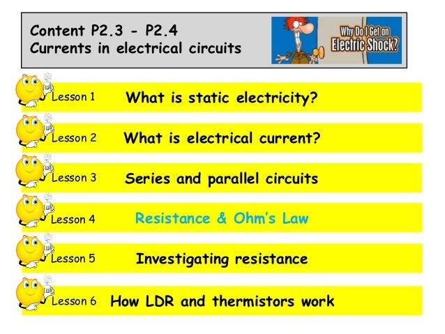 P2.3 p2.4 lesson 4 resistance & ohm's law