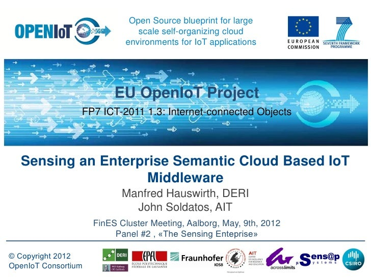 Open Source blueprint for large                               scale self-organizing cloud                            envir...