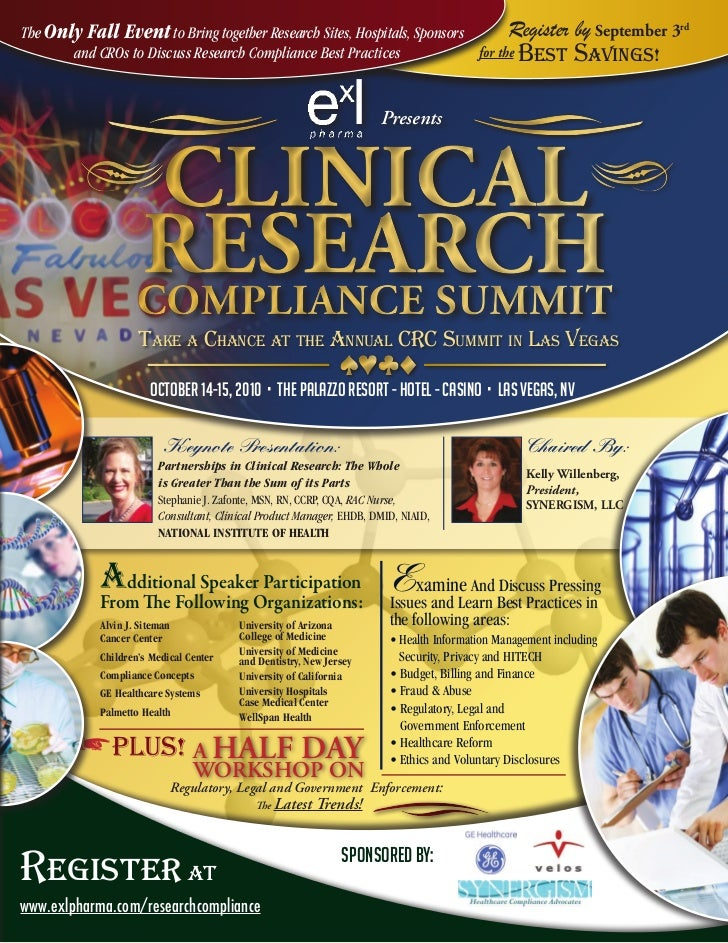 The Only Fall Event to Bring together Research Sites, Hospitals, Sponsors       Register                    by September 3...