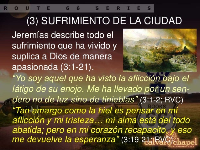 P25 estudio panor mico de la biblia lamentaciones for Exterior no es la voz es clamor desde el alma