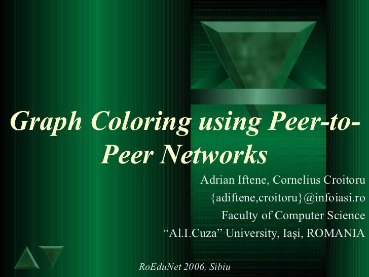 Graph Coloring using Peer-to-Peer Networks