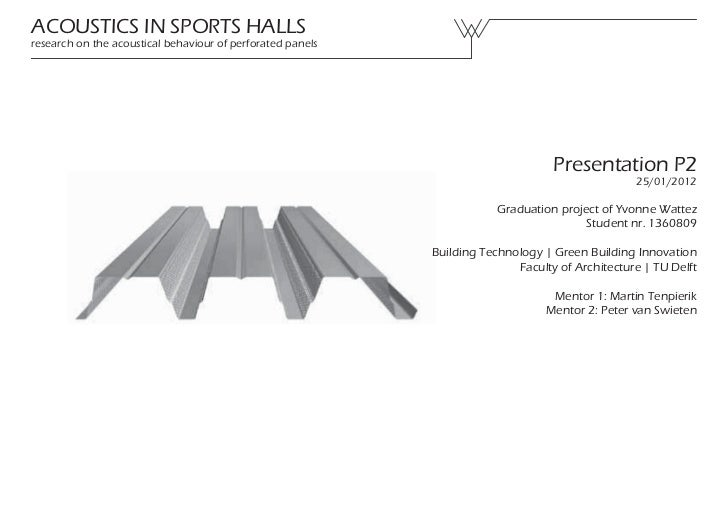 ACOUSTICS IN SPORTS HALLSresearch on the acoustical behaviour of perforated panels                                        ...
