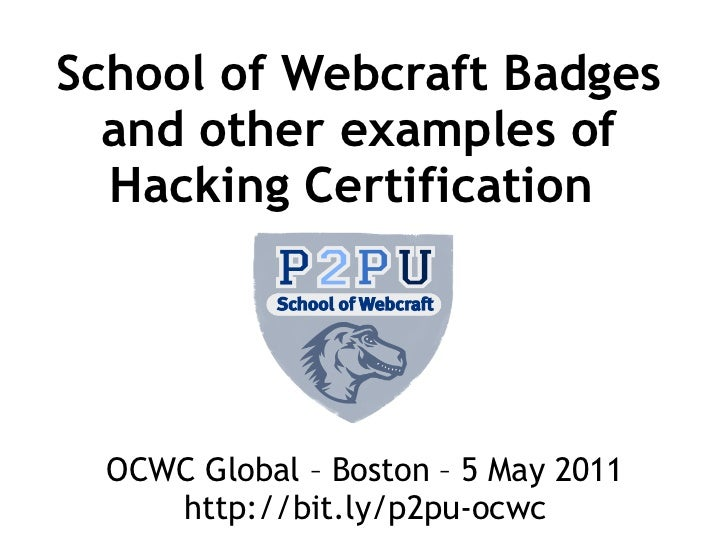 OCWC Global 2011 - Alternative Certification