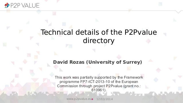 Technical details of the P2Pvalue directory