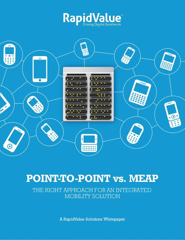 POINT-TO-POINT vs. MEAP THE RIGHT APPROACH FOR AN INTEGRATED           MOBILITY SOLUTION      A RapidValue Solutions White...