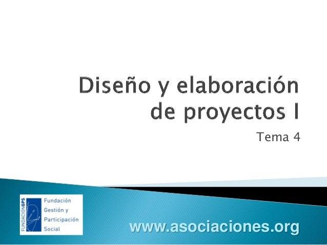 Diseño y elaboración de proyectos I
